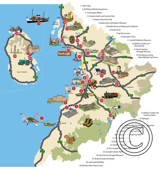 Visitor Map commissioned by Ayrshire & Arran Tourism